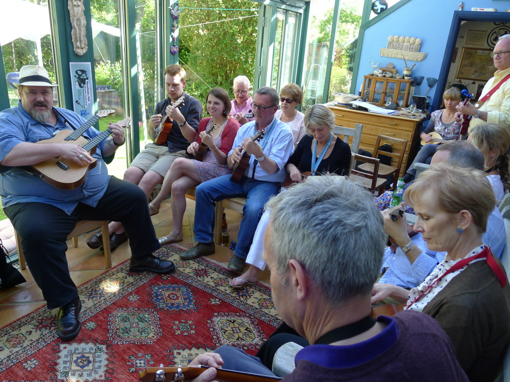 Manitoba Hal's visit to us in May 2014 - the ukulele workshop.