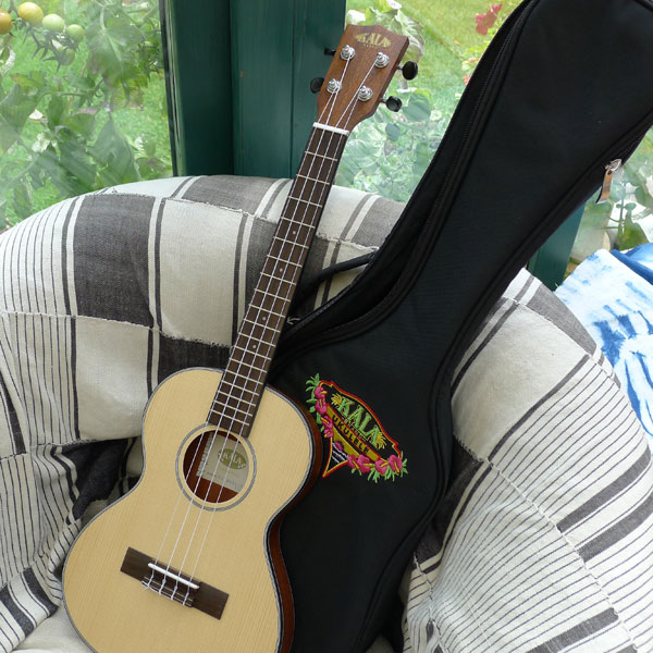 Another beautiful slimline Kala travel uke joins Ver Players.